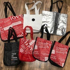 Lululemon Reusable Bags -  Lot of 7 Shopping Bags